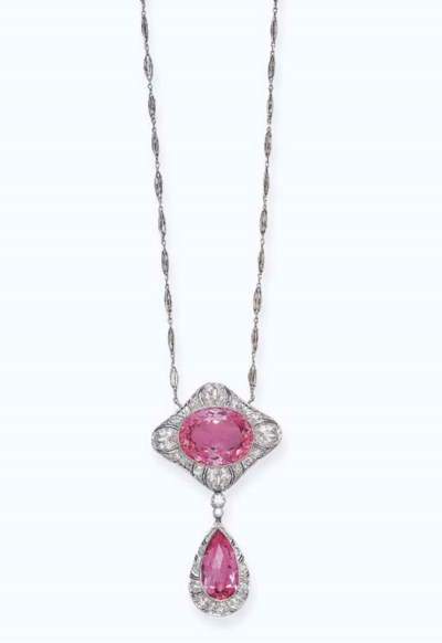 A BELLE EPOQUE PINK TOPAZ AND