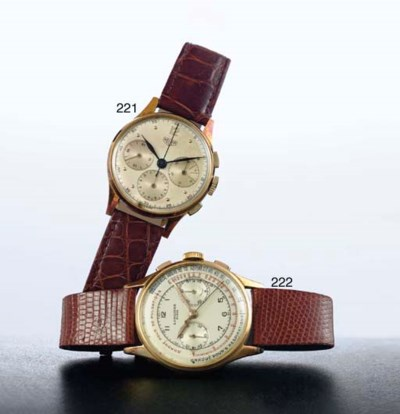 LONGINES.  A LARGE 18K GOLD CH