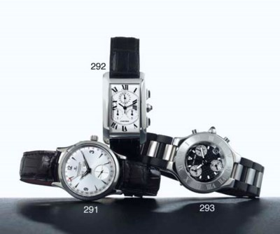 CARTIER. A STAINLESS STEEL CHR