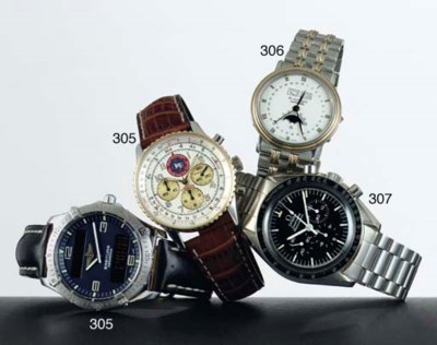 BREITLING. A GROUP OF THREE WR