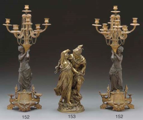A French bronze group of Perse