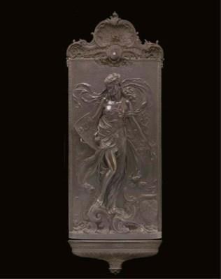 An American bronze relief pane