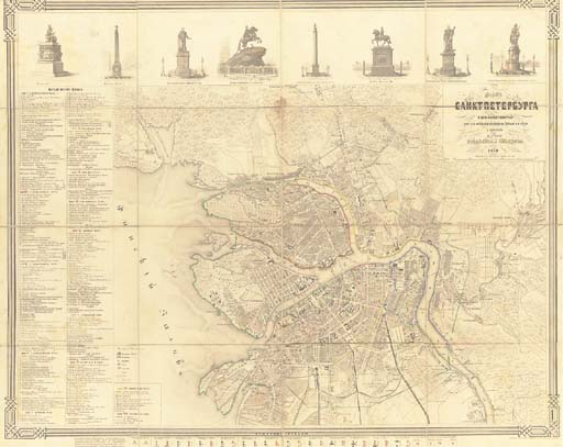 A map of St. Petersburg and it