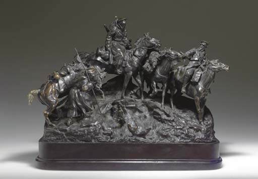 A BRONZE DEPICTING THE CROSSIN
