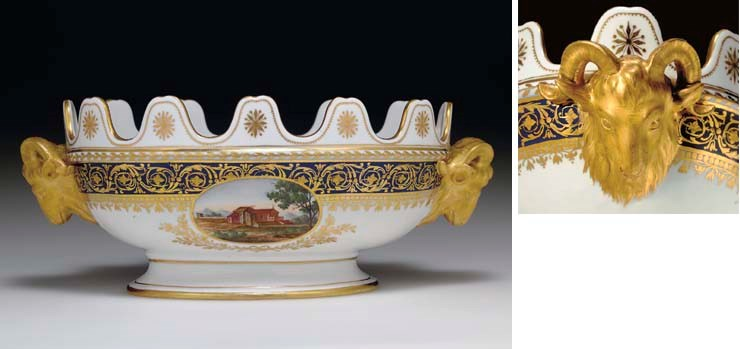 A PORCELAIN MONTEITH BOWL FROM
