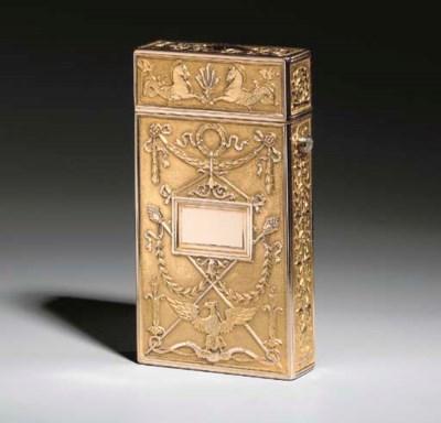 A TWO-COLOR GOLD CIGARETTE-CAS