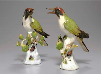 A PAIR OF MEISSEN MODELS OF WO