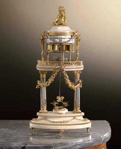 A LOUIS XVI ORMOLU, WHITE AND
