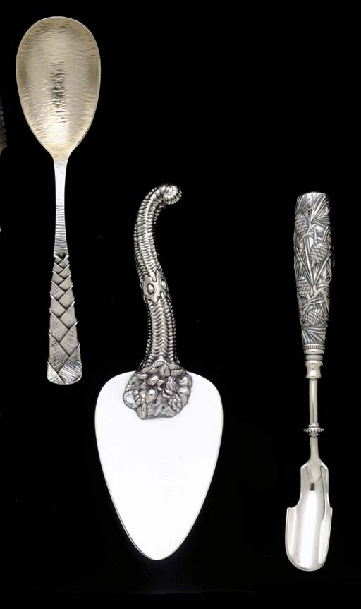 A GROUP OF SILVER SERVING PIEC