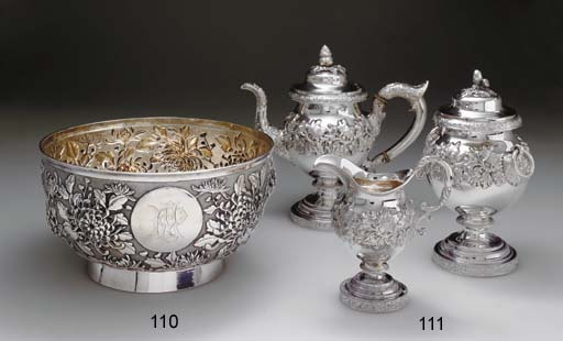 A CHINESE-EXPORT SILVER PUNCH