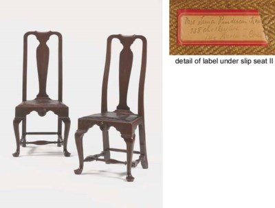 A PAIR OF QUEEN ANNE MAHOGANY