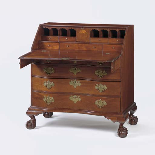 A CHIPPENDALE MAHOGANY REVERSE