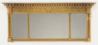 A CLASSICAL STYLE GILT OVERMAN