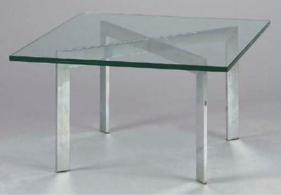 A CONTEMPORARY GLASS AND CHROM