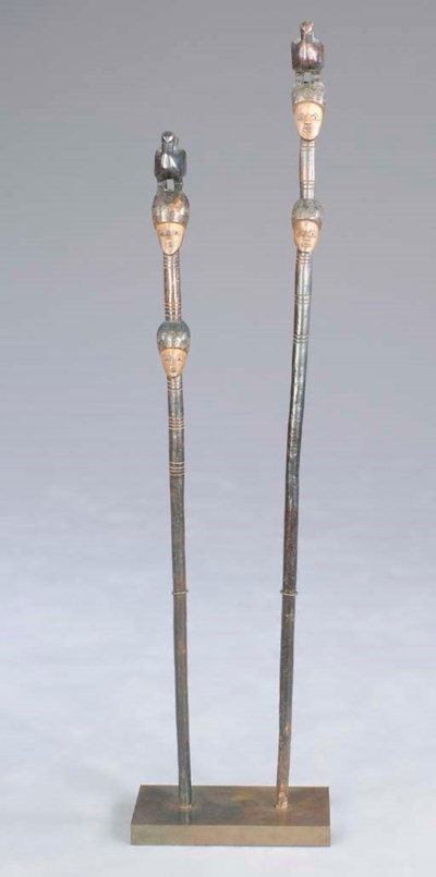 A PAIR OF NORTHERN CONGO STAFF