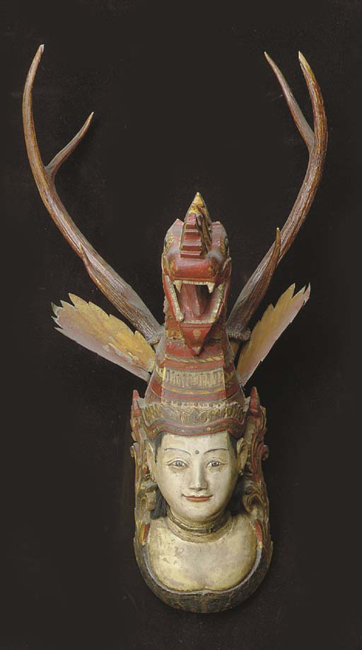 A SOUTH-EAST ASIAN BUST,