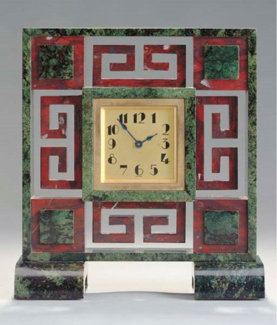 A FRENCH ART DECO BRASS AND HA