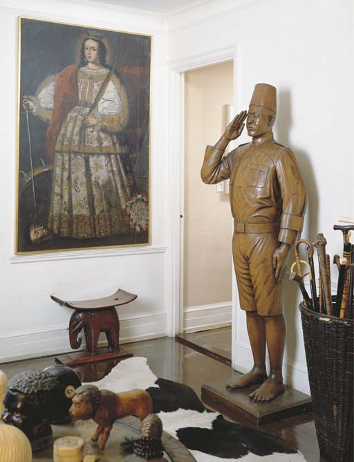 A FRENCH COLONIAL CARVED WOOD