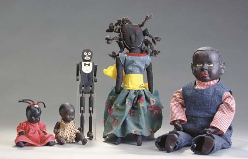 A GROUP OF FIVE DOLLS,