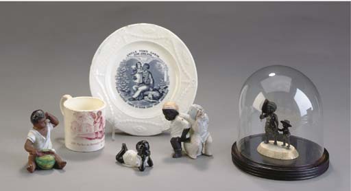 A GROUP OF THREE PORCELAIN FIG