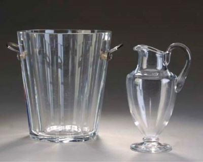 A BACCARAT METAL-MOUNTED GLASS