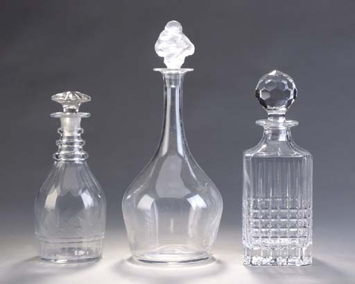 A GROUP OF VARIOUS GLASS DECAN