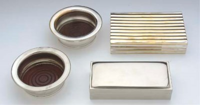 FOUR SILVER-PLATED TABLE ARTIC