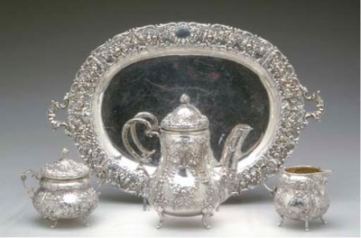 A GERMAN SILVER THREE-PIECE CO