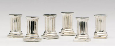 A SET OF FOURTEEN SILVER-PLATE