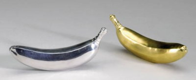 A PAIR OF SILVER AND SILVER-GI