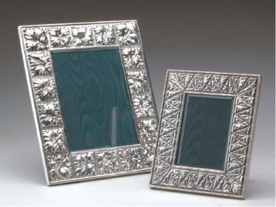 TWO ITALIAN SILVER TABLE FRAME
