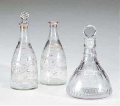 AN ANGLO-IRISH CUT-GLASS DECAN