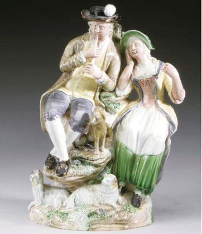 AN ENGLISH PEARLWARE GROUP OF