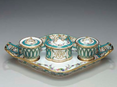 AN ENGLISH SEVRES STYLE PORCEL