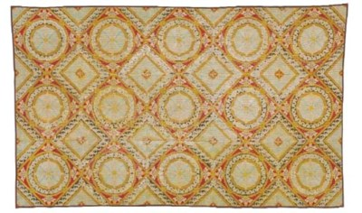A FRENCH NEEDLEPOINT RUG,