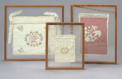 A GROUP OF THREE FRAMED EMBROI
