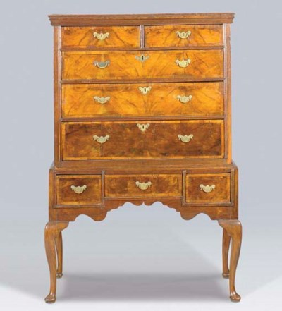 A QUEEN ANNE STYLE WALNUT AND