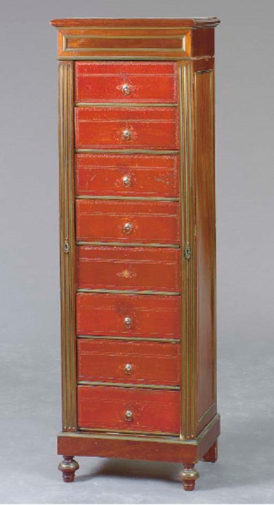 A LOUIS XVI STYLE MAHOGANY AND