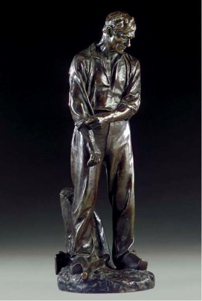 A French bronze figure entitle