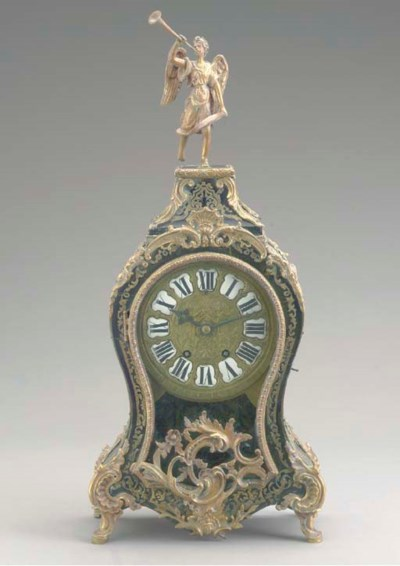 A LOUIS XIV STYLE BRASS-INLAID