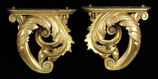 A PAIR OF ROCOCO STYLE CARVED
