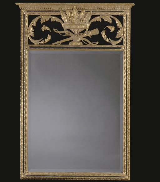 A NEOCLASSICAL GILTWOOD AND COMPOSITION PIER MIRROR,