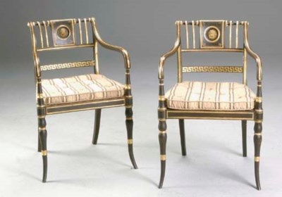 A PAIR OF LATE REGENCY STYLE E