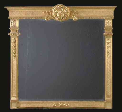 A ROCOCO STYLE GILTWOOD OVERMA