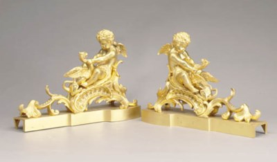 A PAIR OF LOUIS XV STYLE GILT-