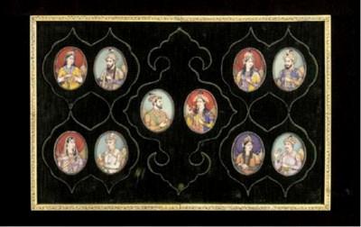 A SET OF TEN INDIAN POLYCHROME