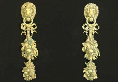A PAIR OF BAROQUE STYLE GILT-M
