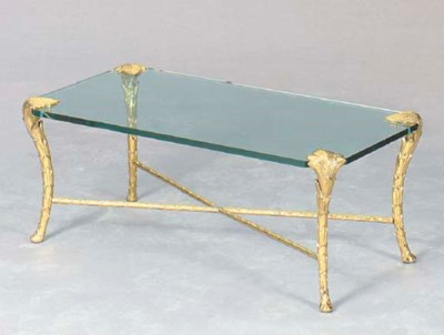A CONTEMPORARY GILT-BRONZE AND