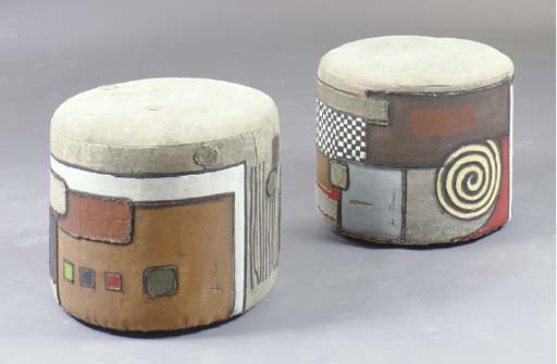 A PAIR OF CONTEMPORARY PAINT D