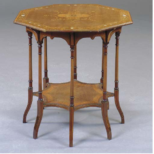A VICTORIAN SYCAMORE SATINWOOD